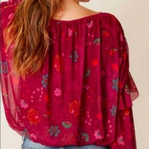 Free People Tops - NWT Free People Berry Floral Top